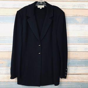 St. John Basics • Black Two Button Blazer Size 14